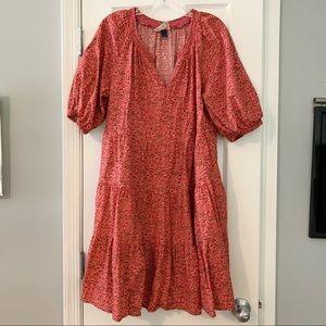 Universal Thread orange pink floral tiered dress